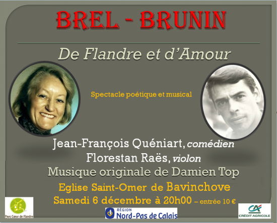 Annonce spectacle brel brunin